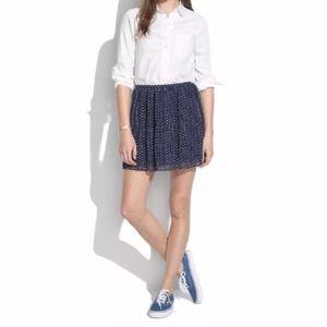 Madewell Pleated Polka Dot Mini Skirt